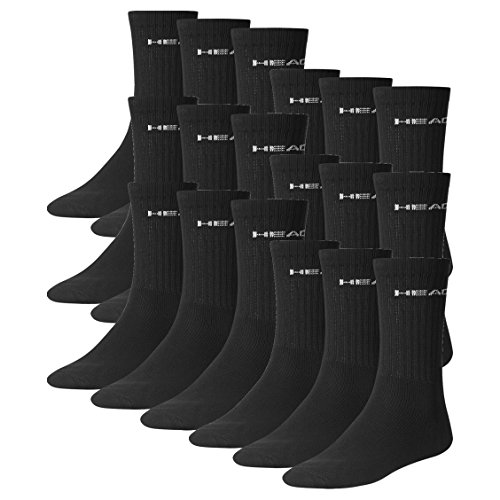 head-unisex-crew-socken-sportsocken-18er-pack-black-200-43-46