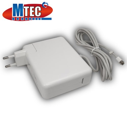 Mtec Netzteil Ladegerät 85W Magsafe für: Apple MacBook / MacBook Pro / Macbook Air / Mac Book 13 / MacBook Pro 15 / Macbook Pro Unibody / Macbook weiß schwarz 13 / A1184 MA538LL/A 661-0443, MC505LL/A, MC503LL/A