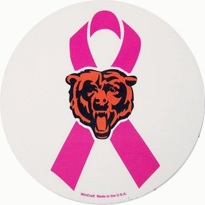 Chicago Bears Official Pink Ribbon Breast Cancer Awareness Car Magnet