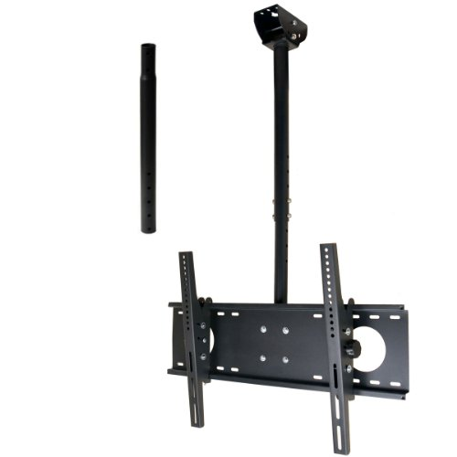 "Videosecu Adjustable Tilting Ceiling Mount For Most 32""-60"" Lcd Led Plasma Tv Flat Panel Display Fits Flat Or Vaulted Ceiling, Also To The Wall Extending 26-55"" Mpc53Be 1Uo"