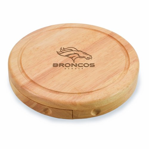 NFL Denver Broncos Brie Cheese Board/Tool Set, 7-1/2 Inch