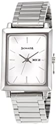 Sonata Classic Analog White Dial Mens Watch - NF7078SM05