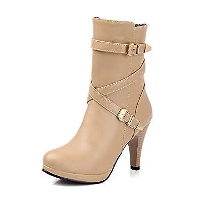 Amazon.com: Women Winter New Fashion Comfortable Mid Calf
