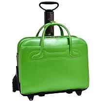McKleinUSA WILLOWBROOK 94981 Green Detachable-Wheeled Ladies' Briefcase