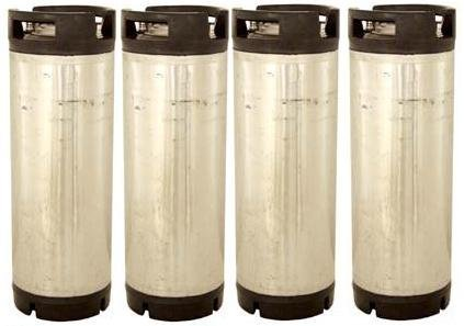 Stainless Steel 5 Gallon Reconditioned Keg Set of Pin Lock Kegs for Home Brew