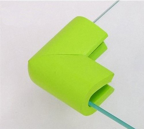 4 pcs Baby Furniture Corner Safety Bumper Security Table Desk Corner Edge U type Protector Guard Cushion Softener (Green) - 1
