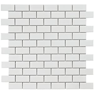 Retro Subway White 11 3 4 X 11 3 4 Inch Porcelain Floor Wall Tile
