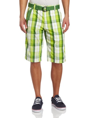 Image of Southpole 13121-3327 Men's Plaid Shorts With Belt