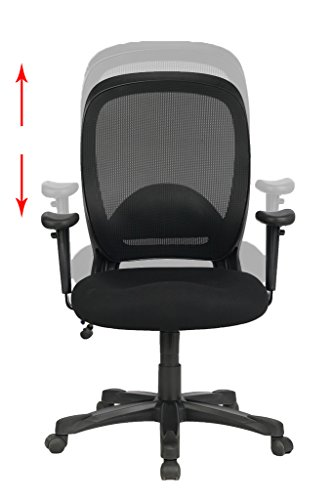 VIVA OFFICE Mid Back Nylon Base Adjustable Armrest Heavy Duty 300lbs Office C
