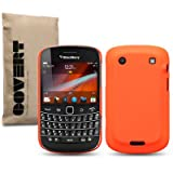 "Fluro Orange Blackberry Bold 9900 ""Covert"" Branded Rubber Back Cover / Case / Shell / Skinby Covert"