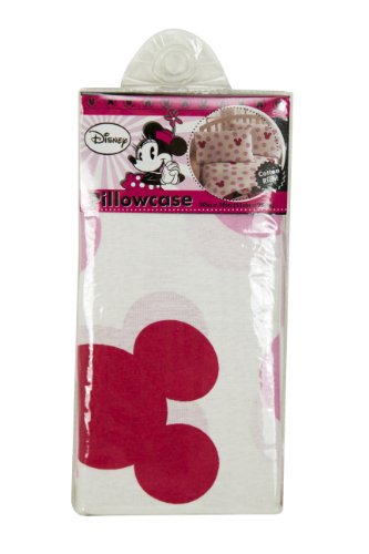 Disney Hearts Pillowcase with Large pink dots and minny mouse - 1