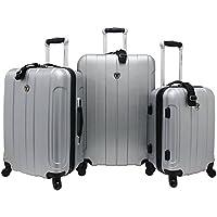 Traveler's Choice Cambridge 3 Piece Hardshell Spinner Luggage Set (Multiple Colors)