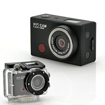 "Wi-Fi Sports Camera ""SportsCam"" - With Remote Control, Full HD 1080p, 5 Megapixels CMOS Sensor, Waterproof"