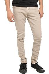 RUDE Khaki Skinny Fit Jeans