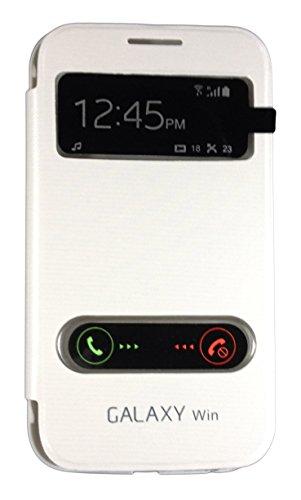 Sun Mobisys Call iD Flip Cover for Samsung Galaxy Grand Quattro i8552/Win i8552 White