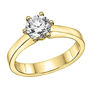 GIA Certified 14k white-gold Round Cut Diamond Engagement Ring (1.52 cttw, F Color, VS2 Clarity)