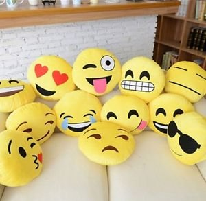 12″ Emoji Pillow (set of 10) Assorted Emojis