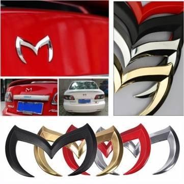 Bheema 3D Batman Chauve-souris Sticker Badge en métal emblème voiture pour Mazda 356