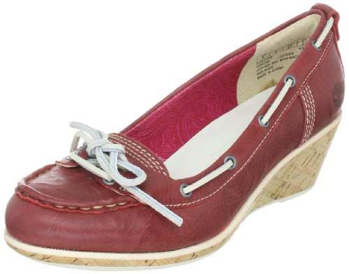 Timberland Women's Whittier Red Wedges Heels