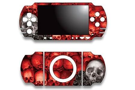 Sony PSP Slim Skin Decal Sticker - Bonecollector Red
