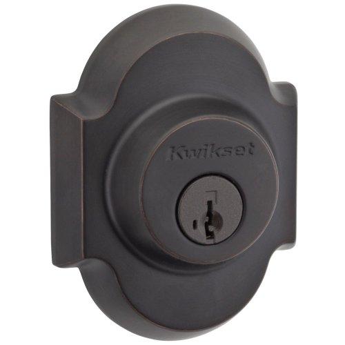 Kwikset Austin Single Cylinder Deadbolt Featuring Smartkey® In Venetian Bronze front-706389