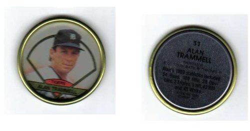 1990 Topps Collector's Coin Alan Trammell Detroit Tigers - 1