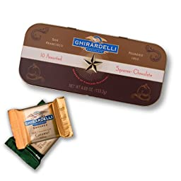 Ghirardelli Chocolate Heritage Collection SQUARES Chocolates Tin, 4.69 oz.