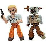 Walking Dead Andrea and Zombie Minimates (Pack of 2)