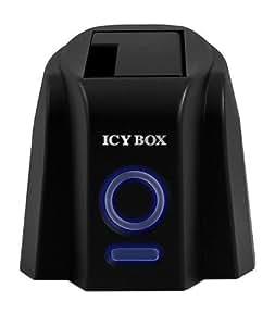 """Icy Box IB-110StUS2-B Station d'accueil pour Disque Dur 2.5"""" et 3.5'' SATA USB 2.0 eSATA"""
