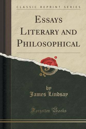 Essays Literary and Philosophical (Classic Reprint)