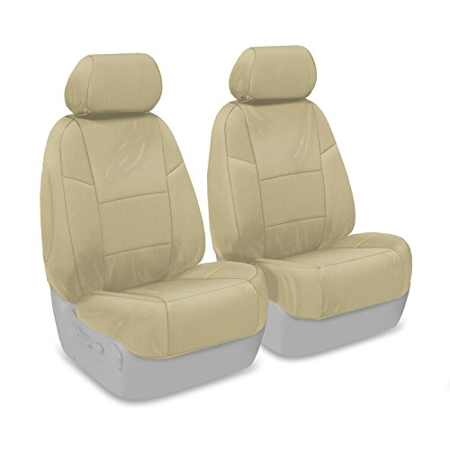 Coverking Custom Fit Front 50/50 Bucket Seat Cover for Select Infiniti FX-35/45 Models - Ballistic (Cashmere) (Fx 35 Seat Cover compare prices)