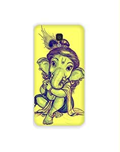 Xiamoi MI4 nkt-04 (53) Mobile Case by Mott2 - Little Ganesha with Peacock Fea... (Limited Time Offers,Please Check the Details Below)