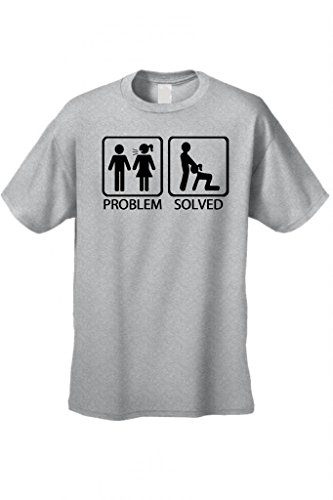 Men'S/Unisex Problem Solved Short Sleeve T-Shirt Grey (Xl)