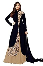 Pal Export Women's Georgette Semi Stitched Dress Material (Pack of 11) (BL-Blue_Blue_Free Size)