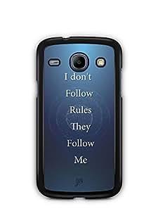 YuBingo Rules Follow Me Mobile Case Back Cover for Samsung Galaxy Core