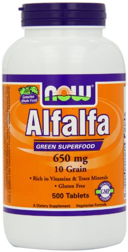 Now Foods Alfalfa 10 Grain, 650 mg , 500 Tablets