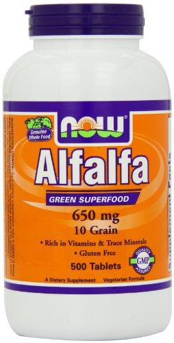 Now Foods Alfalfa 10 Grain, 650 mg , 500 Tablets