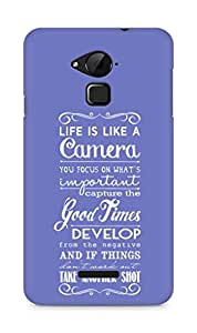 AMEZ life is like a camera Back Cover For Coolpad Note 3