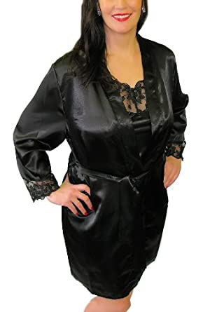 white satin dressing gown and nightdress - YouTube