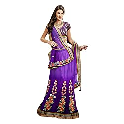 Aagaman Fashions Net Lehenga Cholis (TSMH3137_Purple)
