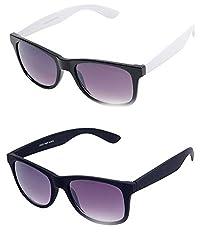 Aoito Chic Wayfarer Sunglasses (Black) (Ao5Whtblkw48 + Ao21Blackw54)