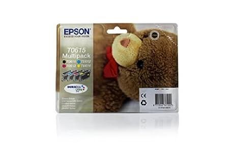 Epson Stylus D 68 PE - Original Epson C13T06154010 / T0615 - Pack Promo (BK,C,M,Y) -