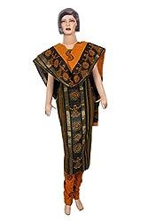 Women's Chanderi Cotton Golden Print Unstitched Salwar Suit Dress Material (Dress_586_FreeSize_Multicolor)