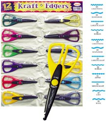 Kraft Edgers Scissors with Variety of Cutting Styles - 12 Pack