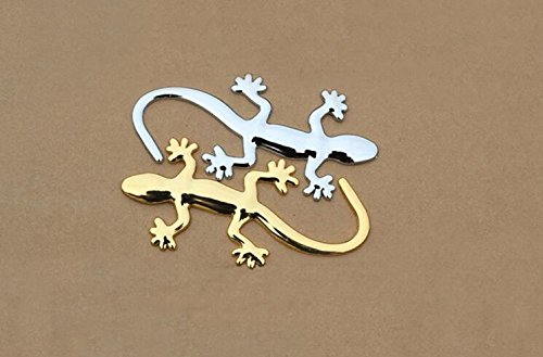 Togather® Cool 3D Geckos Stéréo autocollants en forme de voiture Décoration Emblem Auto Decal Sticker 2 Pièces