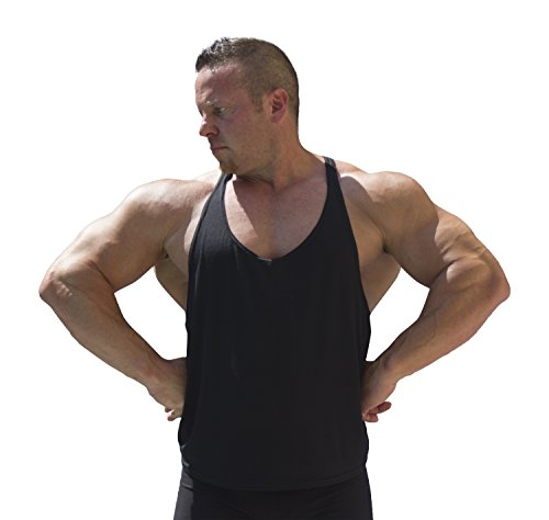 Physique Bodyware Men'S Blank Y-Back Stringer Tank Top S/M Iron Black
