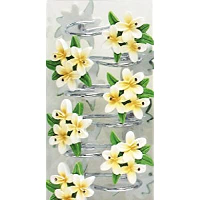 Amazon.com - White Daisy Flower Bathroom Shower Curtain Hook Set