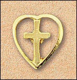 PIN-CROSS/HEART 25PK