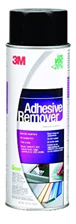 3M Adhesive Remover - Low VOC <20% Clear, 24 Fl Oz Aerosol, Net Wt 18.7 oz (Pack of 1)