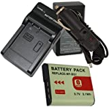 Battery + Charger for Sony DSC-H50 H10 H9 H7 H3 NP-BG1 + car plug [Camera]